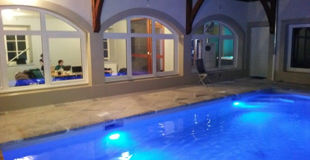 Naturist wellness area in french alps relaxation sauna for Piscine in french